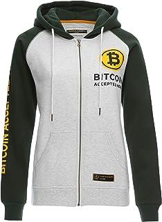 Cointelegraph Fleece Zip Hoodie Bitcoin Accepted Here Unisex | Cryptocurrency Blockchain (Green)