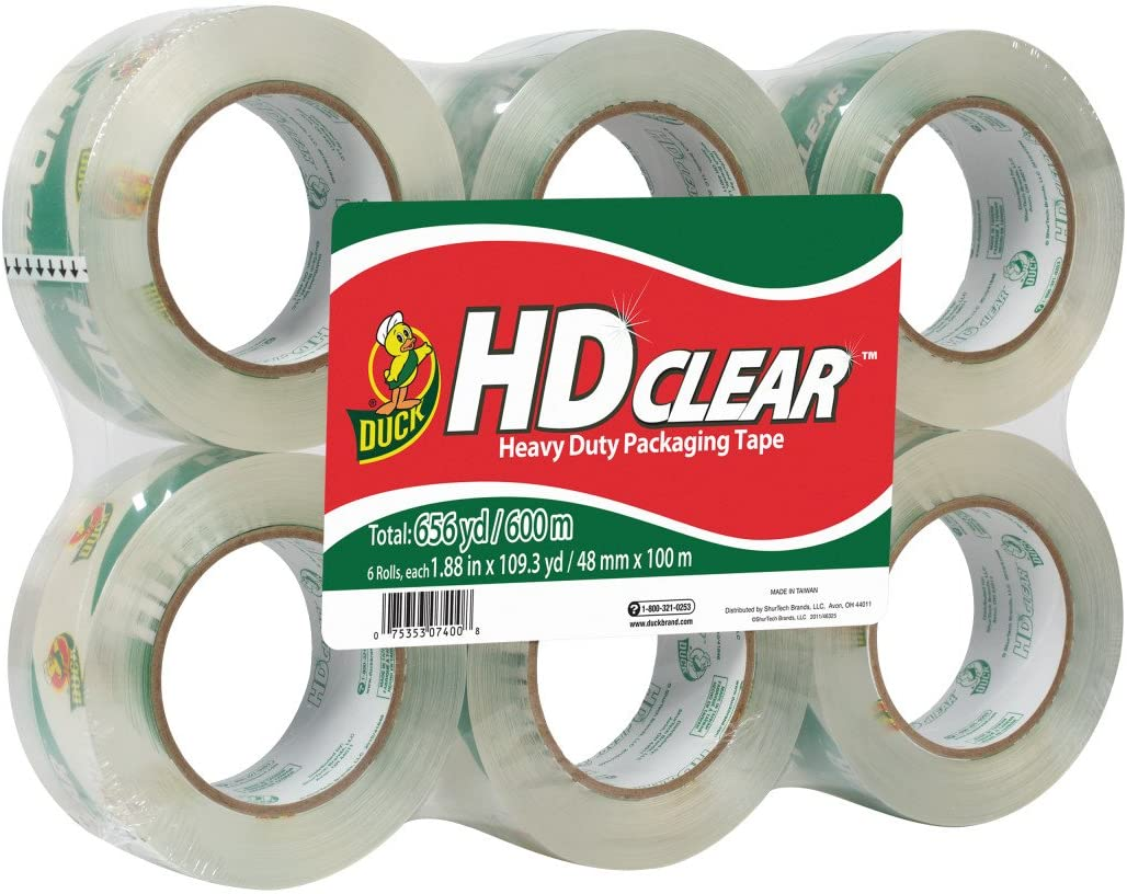 Duck HD 1.88 Inch Clear Heavy Duty Packing Tape  $13.08 Coupon