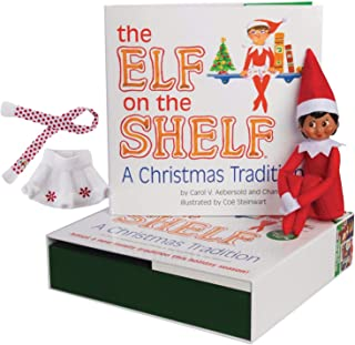 The Elf on the Shelf: A Christmas Tradition Girl Scout Elf (Brown Eyed) with Claus Couture Collection Snowflake Skirt & Scarf Outfit