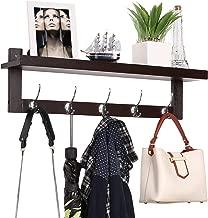 wall shelf with coat hooks