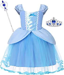 Girls Cinderella Dress Little Mermaid Costume Snow White Dresses Rapunzel Princess Costumes 18 Months-6 Years
