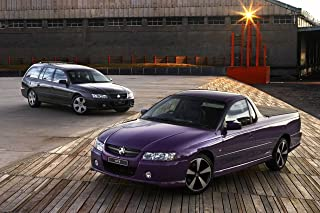 Holden Commodore SVZ Ute (2007) Car Art Poster Print on 10 mil Archival Satin Paper Purple Duo Static View 36
