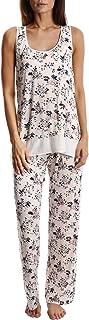 Blis Women's Light and Airy Sleepwear Set Flowy Racerback Tank Top & Pajama Bottoms