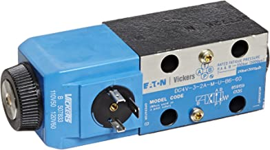 Vickers DG4V Series Solenoid Operated 4 Way Hydraulic Valve, 5075 psi Maximum Pressure, Closed Spring Offset Spool Type, 110-120VAC, 21 gpm Flow Rate