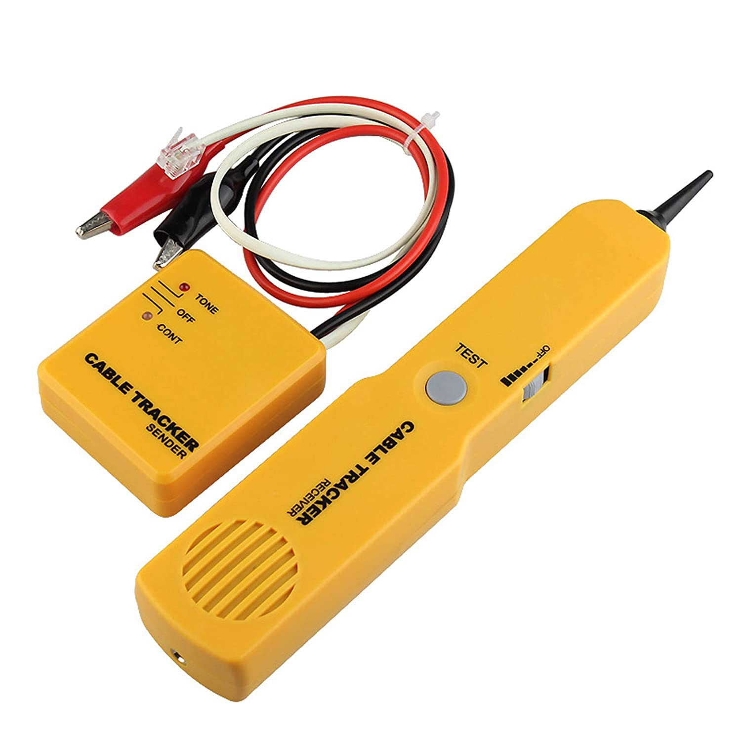 Electrical Wire Tracer Circuit Tester w/Tone Generator & Probe Kit, Cable Signal Locator Tester, Test Circuit Continuity, Network Telephone Line, Automotive Circuit Identify Tools w/Clips & RJ11 Plug