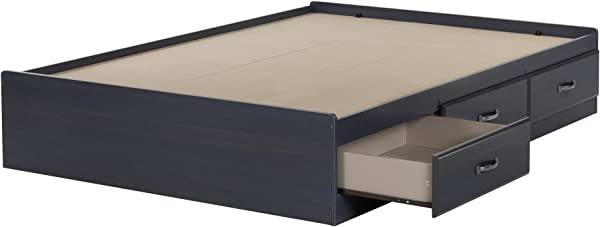 South Shore Ulysses Mates Bed With 3 Drawers Full 54 Inch Blueberry