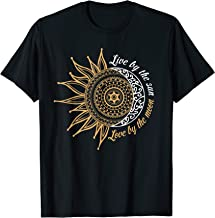 Live By The Sun Love By The Moon Hippie Life Tshirt Gifts