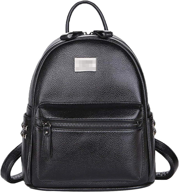 Hulday Rücksack Teenager Vintage Casual Daypacks Stylisch Erwachsene Backpack Für Mdchen Einfacher Stil Pu Leder Niet Bookbag Schultasche Daypack (Farbe   Schwarz, Größe   M)