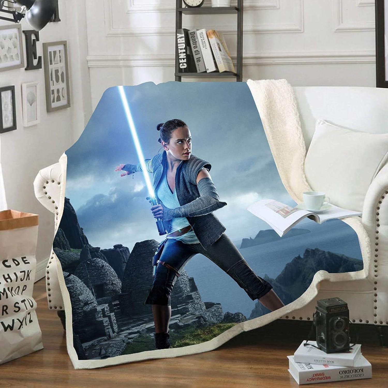 manta doble de Sherpa gran regalo para ni/ños Batte Star Wars Manta polar con impresi/ón 3D de forro polar para el hogar 130 x 150 cm