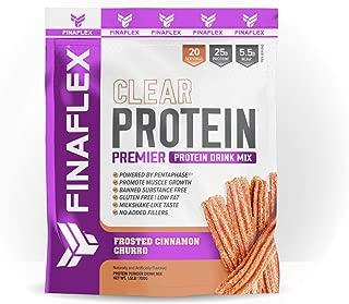 Finaflex Clear Protein Frosted Cinnamon Churro Premier Drink Mix 1.5 Pound, 1.5 Pound