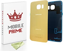 MobilePrime Gold Replacement Back Glass Back Cover Compatible for Samsung Galaxy S6