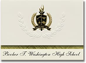 Signature Announcements Booker T. Washington High School (Tulsa, OK) Graduation Announcements, Presidential style, Basic package of 25 with Gold & Black Metallic Foil seal