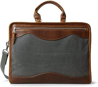 J.W. Hulme Oxford Portfolio Leather Briefcase, Fits 15