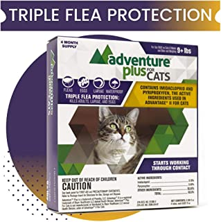 Adventure Plus Triple Flea Protection for Cats, 4 and 8 Month(s) Protection