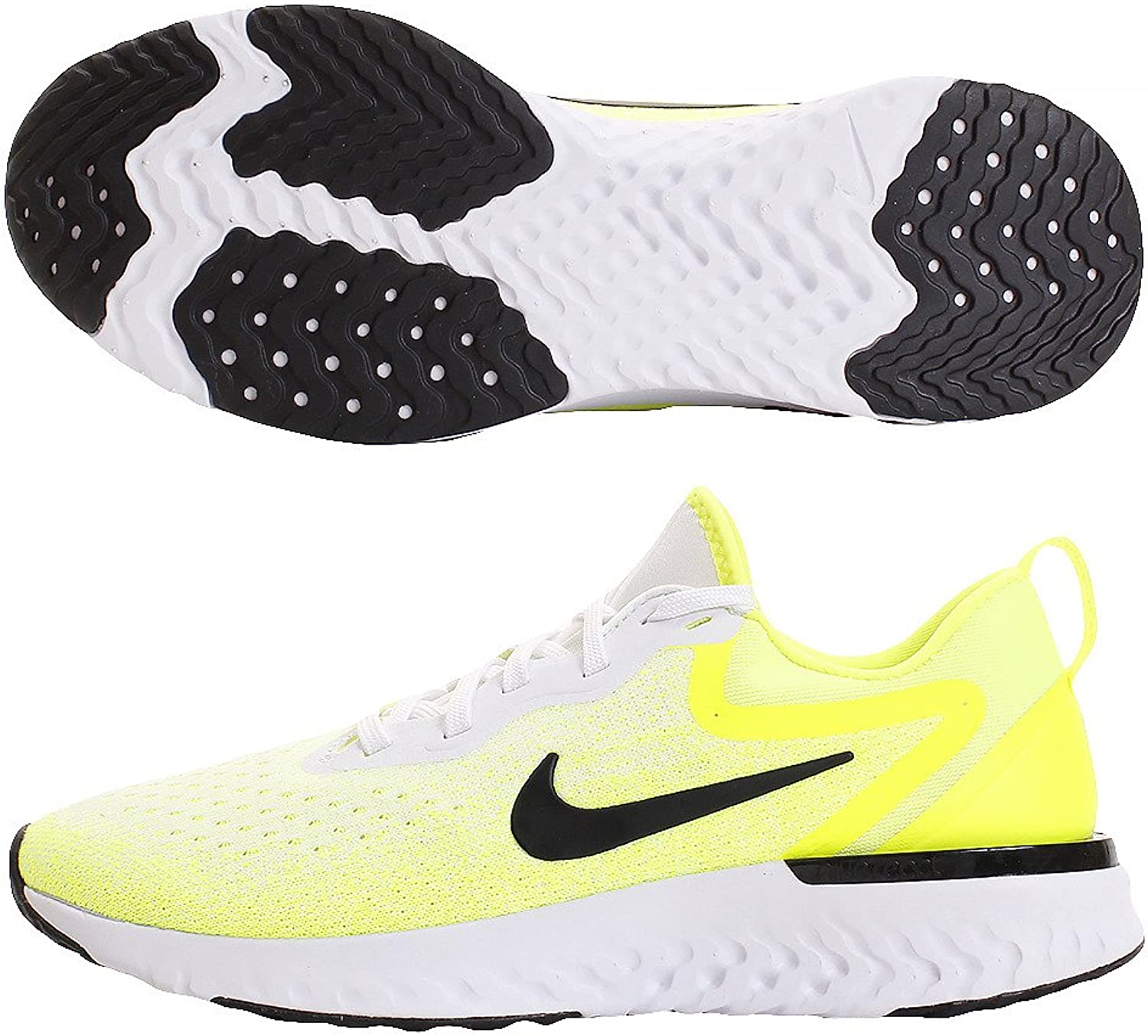Nike Odyssey React - Men's White Black Volt Bright Crimson Nylon Running shoes