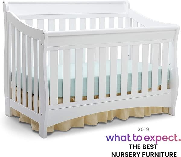 Delta Children Bentley S Series 4 In 1 Convertible Baby Crib White