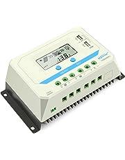 EPEVER 10Aソーラー充電コントローラデュアルUSBポートPWM LCDディスプレイ付き12V / 24V PWMインテリジェントレギュレータ