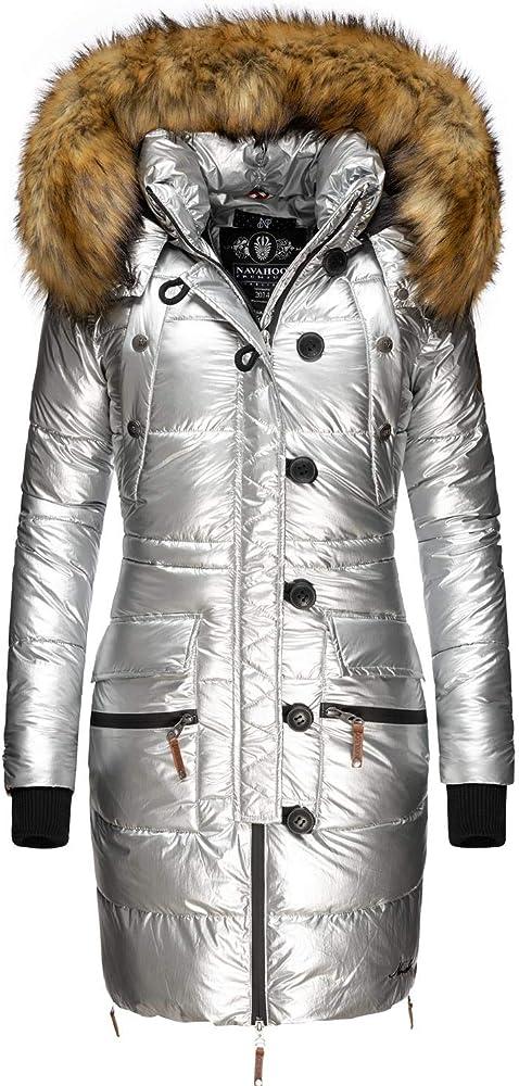 Navahoo ,cappotto  invernale da donna, trapuntato con pelliccia sintetica Zuckerle-02