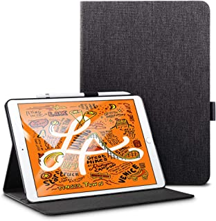 ESR iPad Mini 5 2019 ケース オックスフォード生地 スリムフィット シンプル 軽量 スエード 柔らかな内側 キズ防止 二つ折り オートスリープ ウェイクアップ 機能 iPad Mini5(第五世代(ブラック)