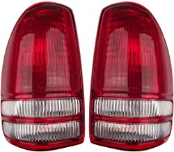 Aftermarket Auto Parts - Pair of Tail lights - Left and Right - Suitable Replacement for 1997-2004 Dakota Pickup Truck