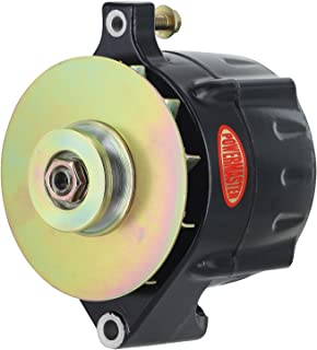 Powermaster Performance 8-57141-347 Black Alternator (Upgrade 150A Smooth Look 1V Pulley, Baffle & Cone 1 Wire)