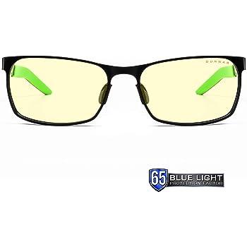 Gunnar occhiali videogiochi e computer   Modello: Razer FPS, Lenti: Ambra   luce blu bloccanti   lente brevettata   65% luce blu e 100% UV luce protezione per proteggere occhi