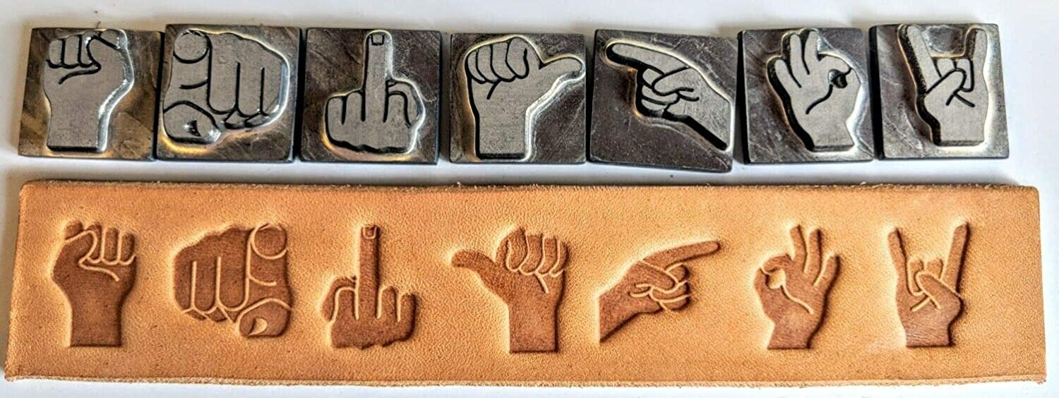 Leather Tools and Supplies Hand Stamp A Finger Set Leathercraft Classic wholesale