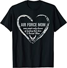 Air Force Mom Heart T Shirt | Proud Military Mom 4th Of July