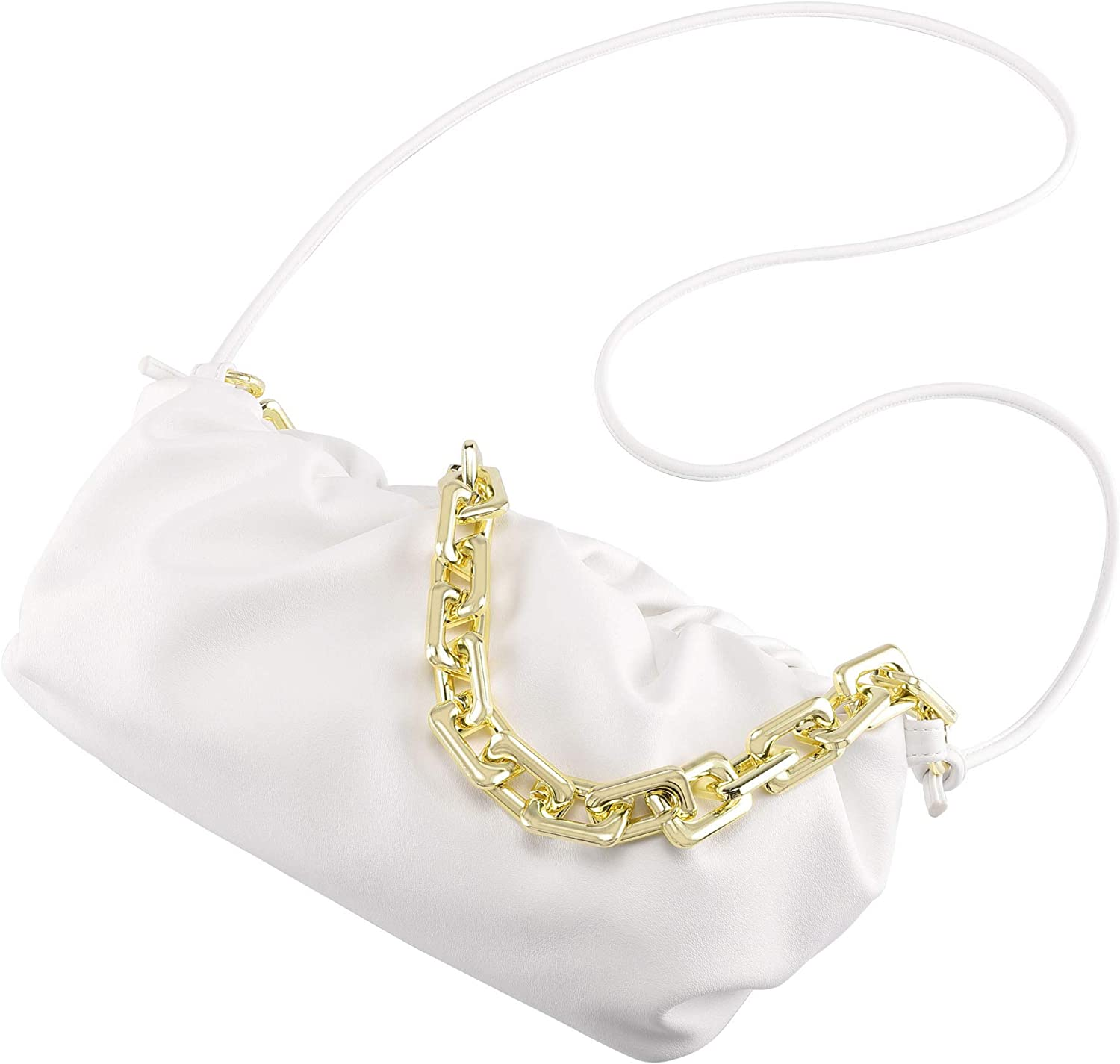 CHIC store DIARY Clutch Purse for Women Pouch C Ruched Chain Chunk Bag Excellence