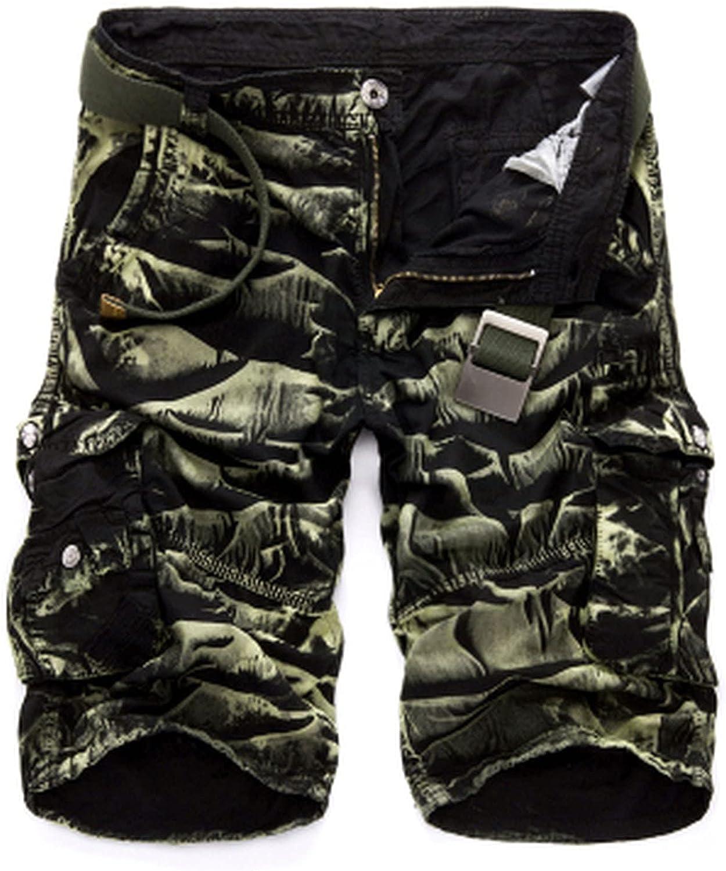 B dressy Camouflage Camo Cargo Shorts Men New Casual Loose Work Man Military Short Pants Plus Size 29-44-BGCamo-32