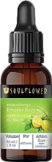 Soulflower Breathe Easy Blend Essential Oil of Lemon,Peppermint,Tea Tree&Geranium,100% Pure Undiluted Natural&Safe,Vegan&O...