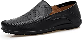 Men's Premium Genuine Leather Casual Slip on Loafers Breathable Driving Shoes Fashion Slipper
