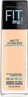 Maybelline Fit Me Matte + Poreless Liquid Foundation Makeup, Warm Nude, 1 fl. oz. Oil-Free Foundation