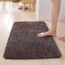 "ESUPPORT Bath Mats Rug Soft Natural Floor Carpet Non Slip Outdoor Entrance Doormats,15.7"" x 23.6""/Dark Brown"