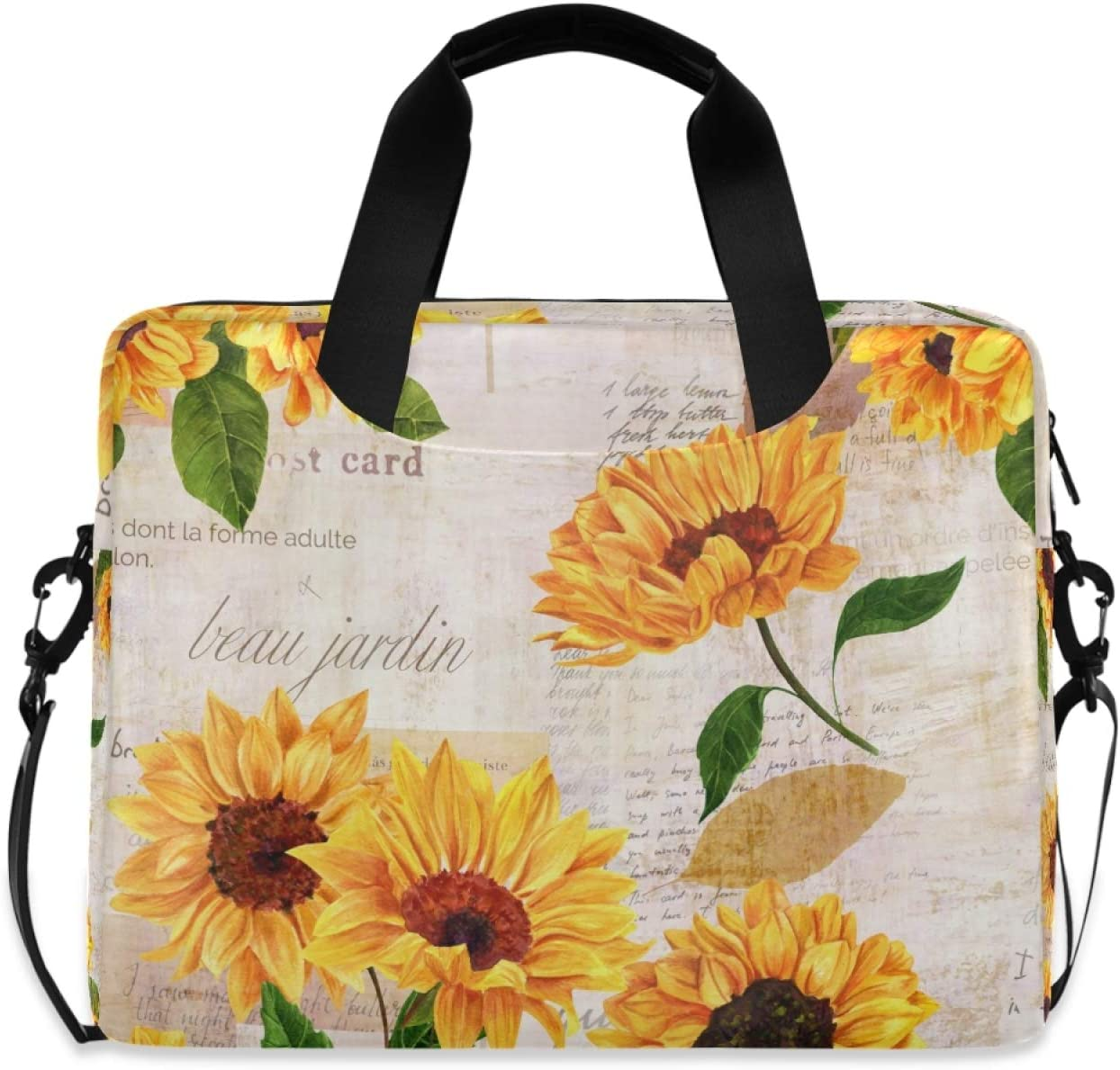 Ombra Daily bargain sale Laptop Shoulder Bag Special Campaign Sleeve Sunflower Portable Retro