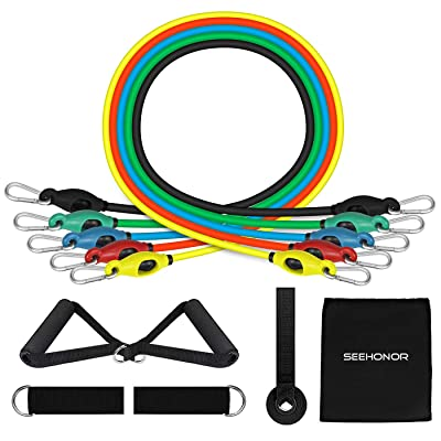 SEEHONOR Resistance Bands Set, Upgraded Workout...