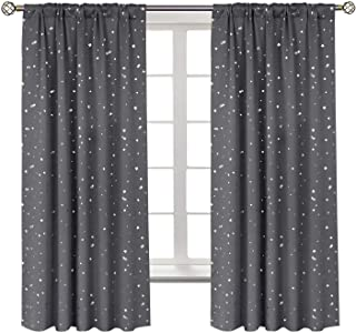 BGment Star Blackout Curtains for Kids Bedroom - Rod...