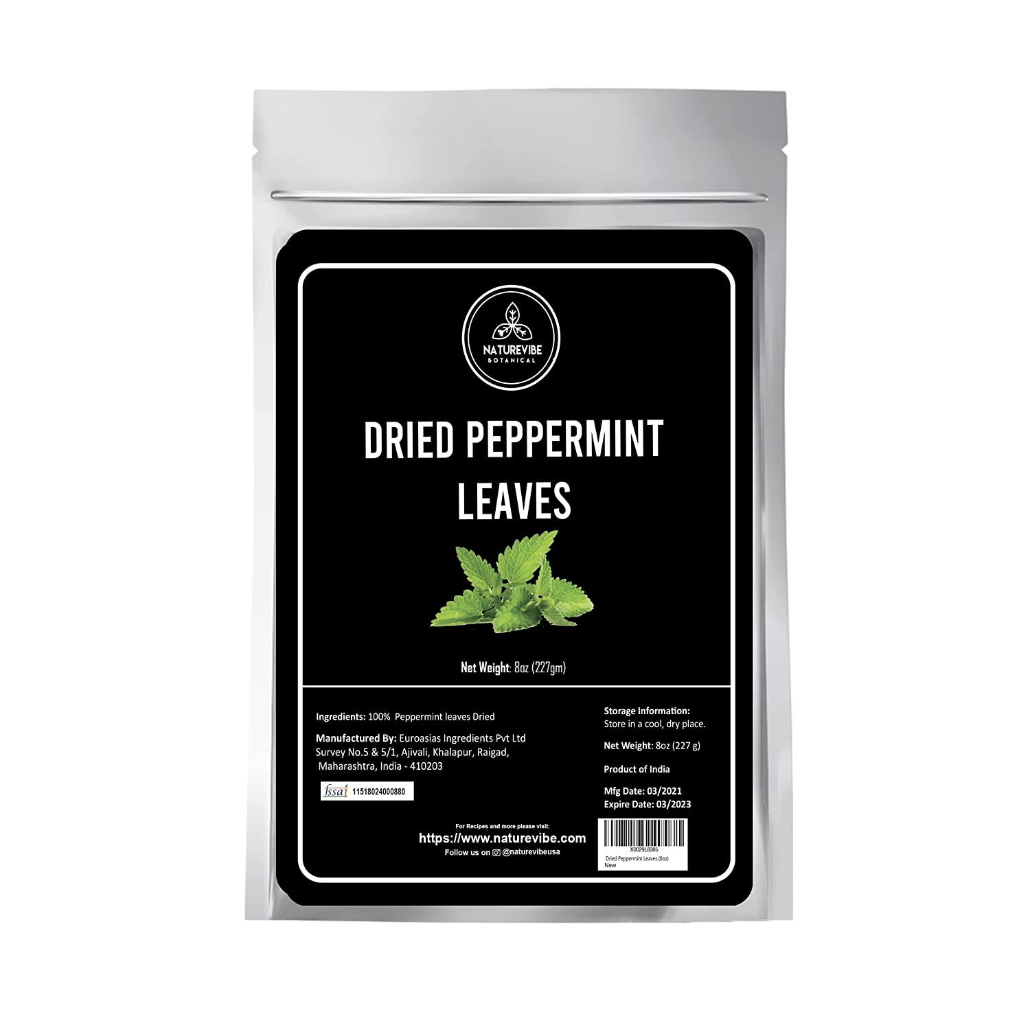 Naturevibe Botanicals Dried Peppermint Leaves Our shop OFFers supreme the best service 8 Keto ounce Fr