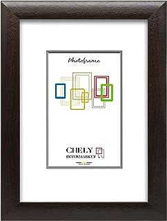 comprar comparacion Chely Intermarket, Marco de Fotos Grandes 70x100 cm (Wengué) MOD-257, Hecho de Madera MDF, Ancho de Bastidor 1,90 cm con A...