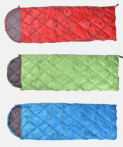 MOM sac de couchage en duvet pour adultes, sacs de couchage 3 ou 4 saisons pour le camping, sacs de couchage enveloppants légers et chauds avec sac de compression, équipement idéal pour la randonnée