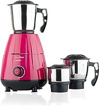 GREENCHEF Mixer Grinder, 600W, 3 Jars (Pink)