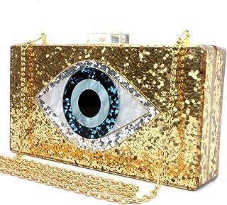 be3e6b5560 Silver Acrylic Clutch Bags Glitter Purse Perspex Bag Handbags for Women