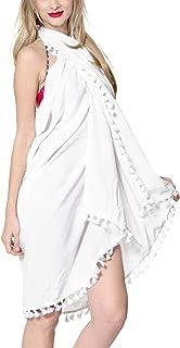 LA LEELA Women's Sarong Wrap Swimwear Cover Up Beach Skirt Yoga Mats Solid Plain