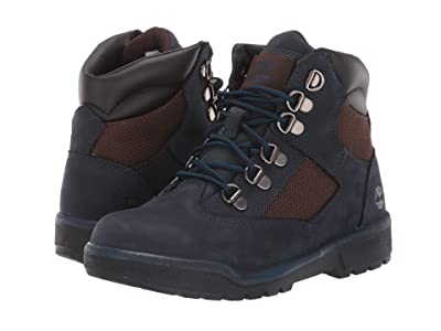 Timberland Kids 6 Fabric/Leather Field Boot (Little Kid) (Navy Nubuck) Kids Shoes