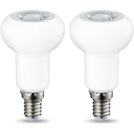 Amazon Basics Spot LED E14 R50, avec culot à vis et lentille réfléchissante, 3.5 W (équivalent ampoule incandescente de 40W), blanc chaud, dimmable - Lot de 2
