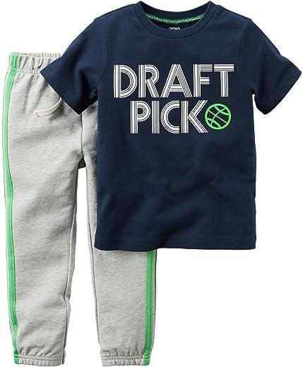 مجموعة ملابس الأطفال الذكور مكونة من قطعتين 229g249 من كارترز