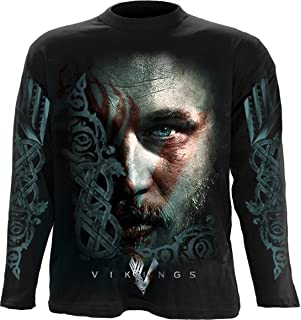 Spiral Mens - Ragnar Face - Vikings Longsleeve Black