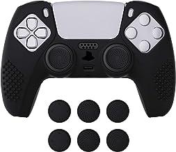 eXtremeRate PlayVital Cover Controller Skin per PS5 Custodia Protettiva in Silicone Antiscivolo per DualSense con 6 Gommin...