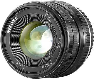Neewer 35mm F1.4 大口径プライムAPS-Cアルミニウムレンズ Fuji XマウントミラーレスカメラX-A1 X-A10 X-A2 X-A3 X-at X-M1 X-M2 X-T1 X-T10 X-T2 X-T20 X-Pro1 ...