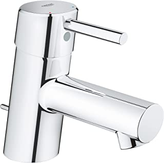 Grohe 34702001 Concetto Single-Handle Bathroom Faucet XS-Size with Drain Assembly in StarLight Chrome,